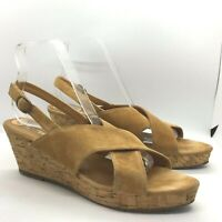 Buffalo London Suede Leather Sandals  Wedge Size UK 8 / EUR 42