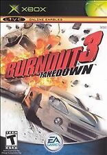 "Burnout 3: Takedown (Microsoft Xbox, 2004) Complete With Instructions  ""T"""