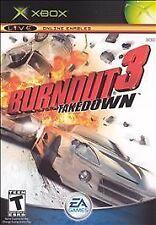 BURNOUT 3 - TAKEDOWN rare XBOX Game Racing Platinum Hits Complete vg
