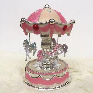 Luxury Carousel Music Box Crown Design Musical box