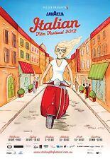 LAVAZZA ITALIAN FILM FESTIVAL AUSTRALIA MANIFESTO VESPA MOTO VINTAGE