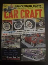 Car Craft Magazine July 1960 Competition Karts Reversed Wheels Hubcaps (AV) Y9
