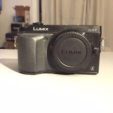 Panasonic LUMIX DMC-GX7 16.0MP Digital Camera - Black (Body Only)+ battery ...