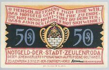 """Notgeld - Stadt Zeulenroda - 50 Pfennig - 1921 - Motiv 5 - """"Kl- Wolschendorf"""""""