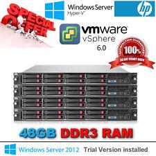 """HP ProLiant DL360 G7 2x4 Core E5640 2.66 GHz 6X8GB 4x146GB 2.5"""" HDD 2X750W P410i"""