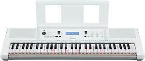 Yamaha PSR-EZ300 Keyboard Einsteiger-Keyboard mit LEUCHTTASTEN-FUNKTION weiß