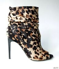 new $1095 BURBERRY 'Burlison' animal-print pony hair ANKLE BOOTS 36 6 - sexy