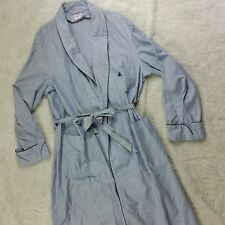 Brooks Brothers Men's Seersucker Bath Robe Lounge Sleep Casual House Coat Sz s