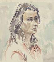 Lady Eleanor Mather - Contemporary Watercolour, Portrait of a Lady
