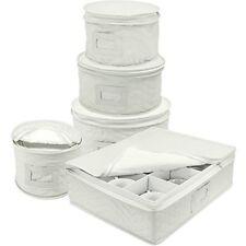 Sorbus Dinnerware Storage 5-Piece White