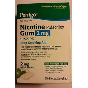 Nicotine Gum Mint 110 Chews 2mg by Perrigo