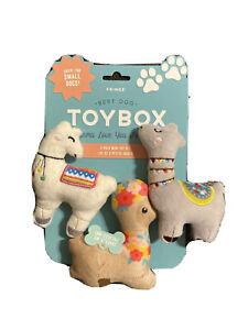 Fringe | Llama Love - Set Of 3  | Squeaky Plush Dog Toy