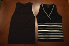 2 Sexy Sleeveless Black Top THE LIMITED Stretch Blouse Small Good Condition