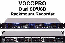 VOCOPRO SDR-4000 Dual USB/SD Rackmount Audio Recorder