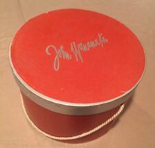 Vintage John Wanamaker Red & Silver Hat Box