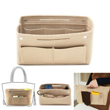 White Handbag Organizer Bag Purse Insert Bag Felt Fabric MultiPocket Liner Tote