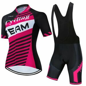 Women Short Sleeve Jersey Set MTB Cycling Clothing Ropa Ciclismo Summer Road