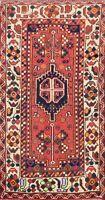 Vintage Tribal Hamedan Hand-knotted Area Rug Wool Geometric Oriental 3x5 Carpet