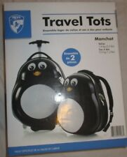 New In Box Heys Travel Tots Penguin Luggage Set Suitcase Backpack Wheel Zip Pull