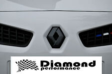Renault Megane Mk2 2000-2008,R26/225 Carbon Fibre Effect Diamond Badge cover SET