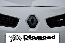 Renault megane Mk2 2000-2008,R26/225 fibre de carbone effet diamant badge jeu de housse