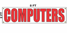 Computers Banner Sign 2x8 for Business Shop Building Store Front