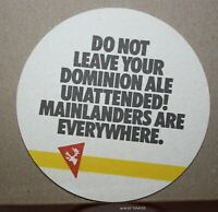 VINTAGE NEWFOUNDLAND DOMINION ALE BEER COASTER - NEW OLD STOCK #5