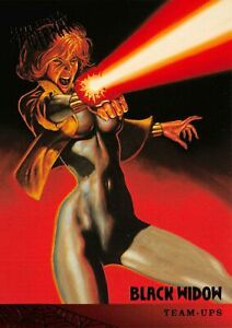 BLACK WIDOW / Spider-Man Fleer Ultra 1995 BASE Trading Card #111