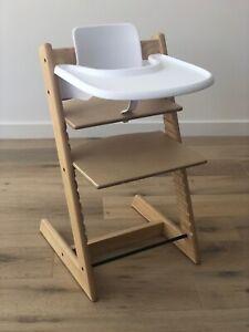 Baby Premium Wooden Highchair Adjustable High Chair feeding Kids chair AU Stock