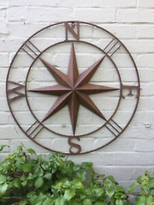 Ex.Large Outdoor Rustic Wall Compass Great Detail Great Value