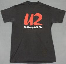 U2 Vintage 80's The Unforgettable Fire Photo Back T-Shirt Medium Single Stitch