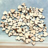 HOT 100x Mixed Rustic Wooden Love Heart Wedding Xmas Table Scatter Decoration
