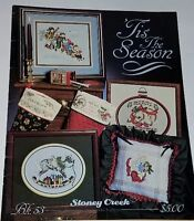 F238 STONEY CREEK 1988, TIS THE SEASON ~ 16 CROSS STITCH DESIGNS