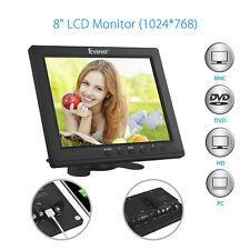 """EYOYO S801H 8"""" LCD Screen 1024*768P HD Monitor VGA BNC Video Audio HDMI DC12V"""