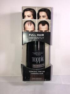 Toppik Hair Building Fibers Dark Brown 0.42 oz New