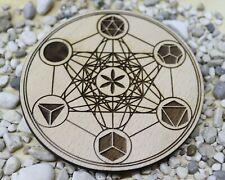 Metatron crystal grid coaster, meditation altar, metatron's cube coaster