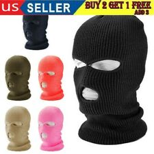 #3 Hole Full Face Mask Ski Mask Winter Cap Balaclava Beanie Outdoor Tactical Hat