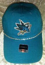 San Jose Sharks NHL Women's Ladies Rhinestone Bling Reebok Hat ~NEW~