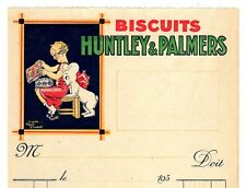 LETTERHEAD BILLHEAD HUNTLEY & PALMERS BISCUITS RENE VINCENT