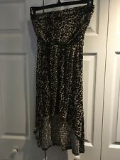 Women's Sleeveless Top Body Central Cheetah High Low Dress panther print  Size s