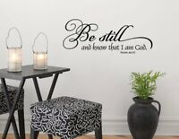 Psalm 46:10 Bible Verse Vinyl Wall Stickers Decals Scripture Quote Word Decor