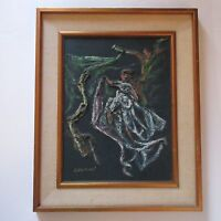 CHARLES CSESZNEGI PAINTING 1970'S ABSTRACT EXPRESSIONISM MODERNISM FIGURES DANCE