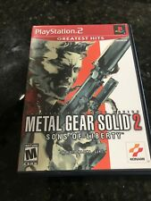 Metal Gear Solid 2: Sons of Liberty (Sony PlayStation 2, 2001) COMPLETE