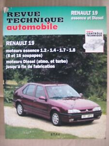 Revue Technique Automobile RENAULT 19 essence et Diesel      CIP 700.3 °