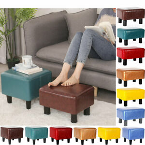 Faux Leather Sofa Footstool Pouffe Ottoman Foot Rest Stool Bench Seat Chair