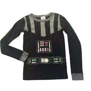 Hanna Andersson Star Wars Darth Vader Pajama Top Organic Cotton Glow in the Dark