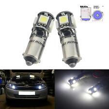 2x H6W 434 BAX9s 5 LED SMD Anti Erreur feu de position Lumière de stationnement