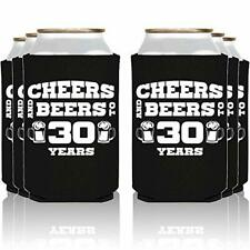 NeeNoNex Cheers And Beers To 30 Years Insulated Can Coolie Coolers 24 Blk 30 .