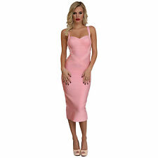 Rayon Mid-Calf Cocktail Stretch, Bodycon Dresses for Women
