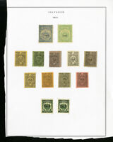El Salvador Lot of 13 Early Stamps